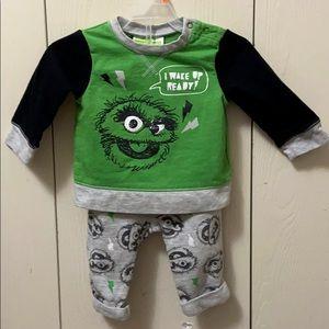 Sesame Street Oscar the Grouch Shirt & Pants